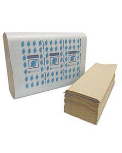 GENMF4001K MULTI-FOLD PAPER TOWELS, 1-PLY, KRAFT, 334 TOWELS/PACK, 12 PACKS/CARTON