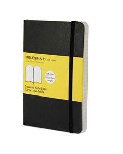 HBGMS712 CLASSIC SOFTCOVER NOTEBOOK, 4 SQ/IN QUADRILLE RULE, BLACK COVER, 5.5 X 3.5, 192 SHEETS