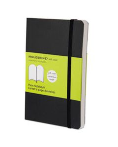 HBGMS717 CLASSIC SOFTCOVER NOTEBOOK, UNRULED, BLACK COVER, 5.5 X 3.5, 192 SHEETS