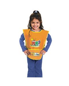CKC5207 KRAFT ARTIST SMOCK, FITS KIDS AGES 3-8, VINYL, ONE SIZE FITS ALL, BRIGHT COLORS