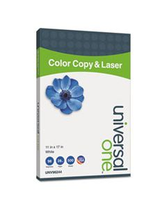 UNV96244 DELUXE COLOR COPY & LASER PAPER, 98 BRIGHT, 28LB, 11 X 17, WHITE, 500/REAM