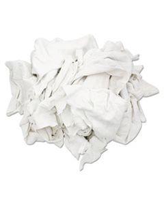HOS33350 RECLAIMED WHITE SWEATSHIRT RAGS, BLEACHED WHITE, 50 LB BOX