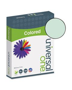 UNV11203 DELUXE COLORED PAPER, 20LB, 8.5 X 11, GREEN, 500/REAM