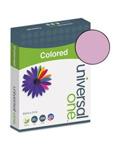 UNV11212 DELUXE COLORED PAPER, 20LB, 8.5 X 11, ORCHID, 500/REAM