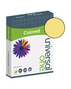 UNV11205 DELUXE COLORED PAPER, 20LB, 8.5 X 11, GOLDENROD, 500/REAM