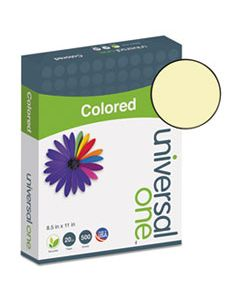 UNV11201 DELUXE COLORED PAPER, 20LB, 8.5 X 11, CANARY, 500/REAM
