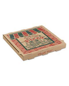 ARV9144314 CORRUGATED PIZZA BOXES, 14 X 14 X 1 3/4, KRAFT, 50/CARTON