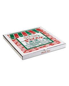 ARV9284393 CORRUGATED PIZZA BOXES, BROWN/WHITE, 28 X 28, 25/CARTON
