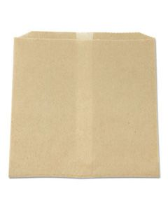 """HOS6802W WAXED NAPKIN RECEPTACLE LINERS, 8.5"""" X 8"""", BROWN, 500/CARTON"""