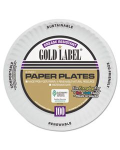 AJMCP6GOAWH COATED PAPER PLATES, 6 INCHES, WHITE, ROUND, 100/PACK