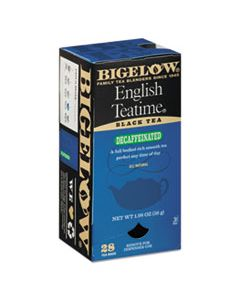 BTC10357 SINGLE FLAVOR TEA DECAF, ENGLISH TEATIME, 28/BOX