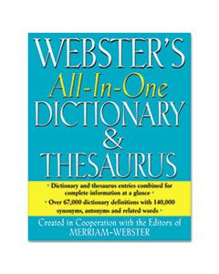 MERFSP0471 ALL-IN-ONE DICTIONARY/THESAURUS, HARDCOVER, 768 PAGES