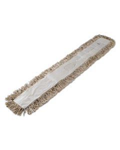 BWK1048 MOP HEAD, DUST, COTTON, 48 X 3, WHITE