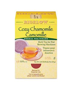 BTC10906 COZY CHAMOMILE HERBAL TEA PODS, 1.90 OZ, 18/BOX