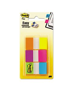 MMM680EGALT PAGE FLAGS IN PORTABLE DISPENSER, ASSORTED BRIGHTS, 60 FLAGS/PACK