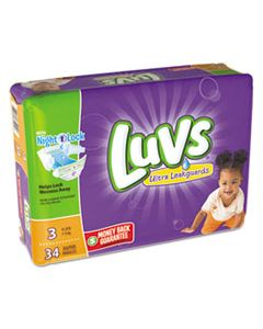 PGC85924 DIAPERS, SIZE 3: 16 LBS TO 28 LBS, 34/PACK, 4 PACK/CARTON