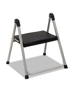"CSC11014PBL1E FOLDING STEP STOOL, 1-STEP, 200 LB CAPACITY, 9.9"" WORKING HEIGHT, PLATINUM/BLACK"