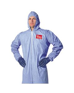 DUPTM127S2XL TEMPRO ELASTIC-CUFF HOODED COVERALLS, BLUE, 2X-LARGE, 25/CARTON