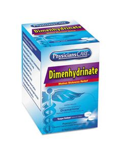 ACM90031 DIMENHYDRINATE (MOTION SICKNESS) TABLETS, 2/PACK, 50 PACK/BOX