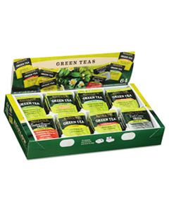 BTC30568CT GREEN TEA ASSORTMENT, TEA BAGS, 64/BOX, 6 BOXES/CARTON