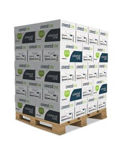 UNV95200PLT DELUXE MULTIPURPOSE PAPER, 98 BRIGHT, 20LB, 8.5 X 11, WHITE, 500 SHEETS/REAM, 10 REAMS/CARTON, 40 CARTONS/PALLET