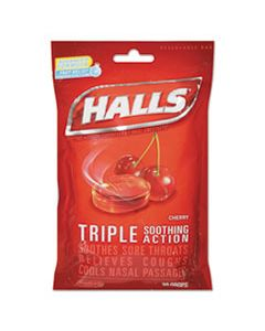 CDB27499 TRIPLE ACTION COUGH DROPS, CHERRY, 30/BAG, 12 BAGS/BOX