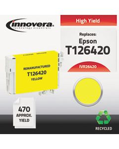 IVR26420 REMANUFACTURED T126420 (126) INK, 470 PAGE-YIELD, YELLOW