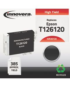 IVR26120 REMANUFACTURED T126120 (126) INK, 385 PAGE-YIELD, BLACK