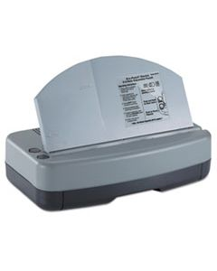 """OIC90115 ELECTRIC 2-3 HOLE ADJUSTABLE ECO-PUNCH, 9/32"""" HOLE DIAMETER, BLACK/GRAY/GREEN"""