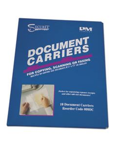 "PMC099DC DOCUMENT CARRIER FOR COPYING, SCANNING, FAXING, 8 1/2"" X 11"", CLEAR, 10/PACK"