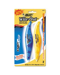 "BICWOELP21 WITE-OUT EXACT LINER CORRECTION TAPE, 1/5"" X 236"", BLUE/ORANGE, 2/PACK"