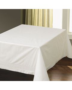 """HFM210086 TISSUE/POLY TABLECOVERS, SQUARE, 82"""" X 82"""", WHITE, 25/CARTON"""