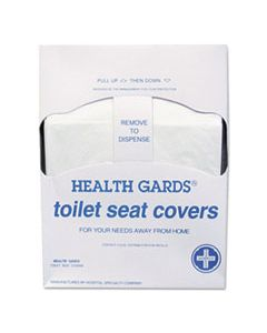 HOSHGQTR5M HEALTH GARDS QUARTER-FOLD TOILET SEAT COVERS, WHITE, PAPER, 200/PK, 25 PK/CT