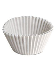 "HFMBL35065 FLUTED BAKE CUPS, 1 1/2"" X 1/2"" X 3 1/2"", WHITE, 500/CARTON"