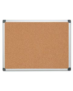 BVCCA051170 VALUE CORK BULLETIN BOARD WITH ALUMINUM FRAME, 36 X 48, NATURAL