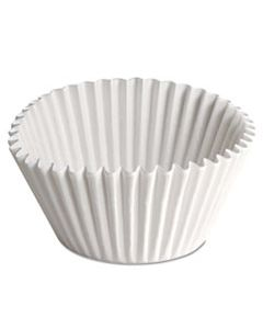 HFM610070 FLUTED BAKE CUPS, 2 1/4 DIA X 1 7/8H, WHITE, 500/PACK, 20 PACK/CARTON