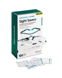 BAL8576 SIGHT SAVERS PRE-MOISTENED ANTI-FOG TISSUES WITH SILICONE, 100/BOX