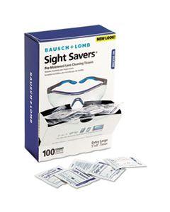 BAL8574GM SIGHT SAVERS PREMOISTENED LENS CLEANING TISSUES, 100 TISSUES/BOX