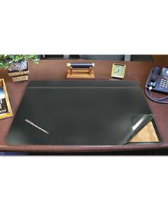 AOP48043S HIDE-AWAY PVC DESK PAD, 31 X 20, BLACK
