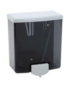 "BOB40 CLASSICSERIES SURFACE-MOUNTED LIQUID SOAP DISPENSER, 40 OZ, 5.81"" X 3.31"" X 6.88"", BLACK/GRAY"