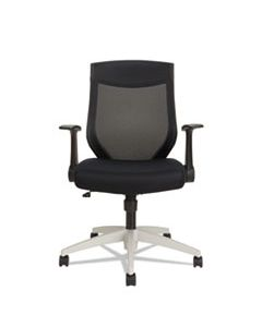 ALEEBK4207 ALERA EB-K SERIES SYNCHRO MID-BACK FLIP ARM MESH-CHAIR, SUPPORTS UP TO 275 LBS., BLACK SEAT/BLACK BACK, COOL GRAY BASE