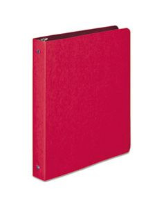 "ACC38619 PRESSTEX ROUND RING BINDER, 3 RINGS, 1"" CAPACITY, 11 X 8.5, EXECUTIVE RED"
