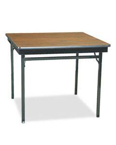BRKCL36WA SPECIAL SIZE FOLDING TABLE, SQUARE, 36W X 36D X 30H, WALNUT/BLACK