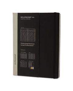 HBGPROPFNTB4HBK PROFESSIONAL NOTEBOOK, NARROW RULE, BLACK COVER, 9.75 X 7.5, 192 SHEETS