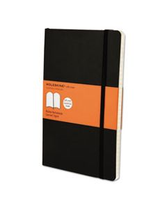HBGMSL14 CLASSIC SOFTCOVER NOTEBOOK, 1 SUBJECT, NARROW RULE, BLACK COVER, 8.25 X 5, 192 SHEETS