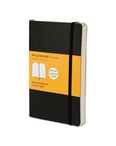 HBGMS710 CLASSIC SOFTCOVER NOTEBOOK, NARROW RULE, BLACK COVER, 5.5 X 3.5, 192 SHEETS