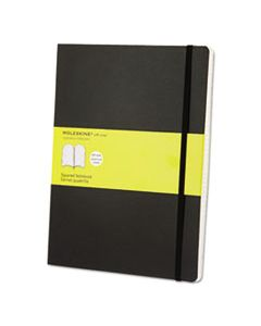 HBGMSX15 CLASSIC SOFTCOVER NOTEBOOK, 1 SUBJECT, QUADRILLE RULE, BLACK COVER, 10 X 7.5, 192 SHEETS
