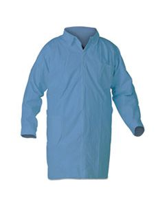 KCC12886 A65 FLAME RESISTANT LAB COATS, 5X-LARGE, BLUE, 25/CARTON