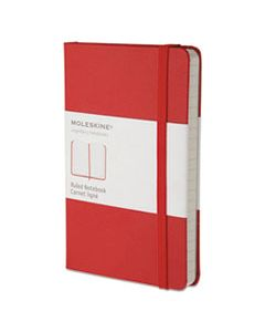 HBGMM710R HARD COVER NOTEBOOK, NARROW RULE, RED COVER, 5.5 X 3.5, 192 SHEETS