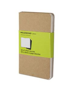 HBGQP413 CAHIER JOURNAL, UNRULED, KRAFT BROWN COVER, 5.5 X 3.5, 64 SHEETS, 3/PACK